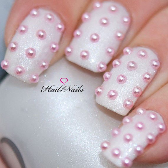 Pink Pearl Studs Nail Art 150 Pearls Per Pack Create Salon Professional Nails In 5 Minutes Yd027 New