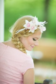 silk dresses - bridal headband