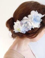 light blue hair accessories flower