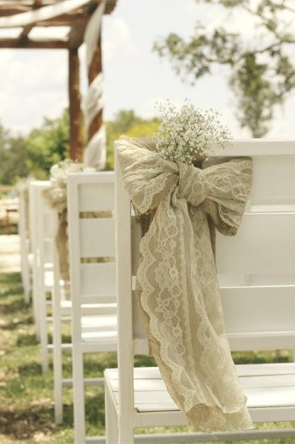 burlap bows for wedding chairs chair cover hire herefordshire ceremony decorations ♥ and ideas #802506 - weddbook