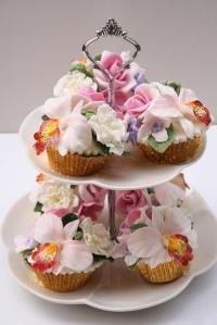 Spring Flowers Cupcakes With Bright Flowers #2038878 ...