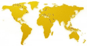 Gold Thin Films World Map