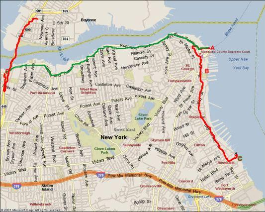 Staten Island route