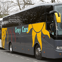 coach hire grey cars