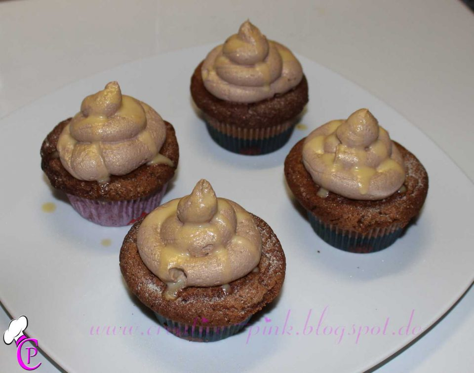 Eierlikör Schoko Muffins mit Pudding Topping