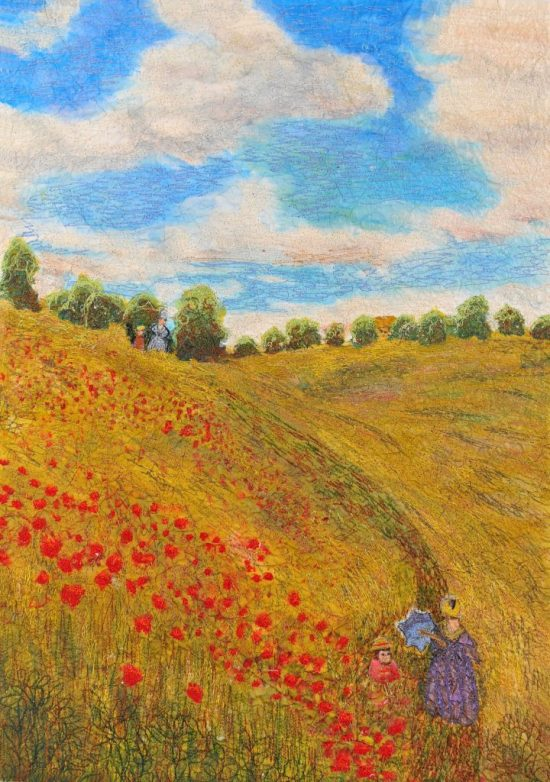 Poppy field (after Monet) (1)