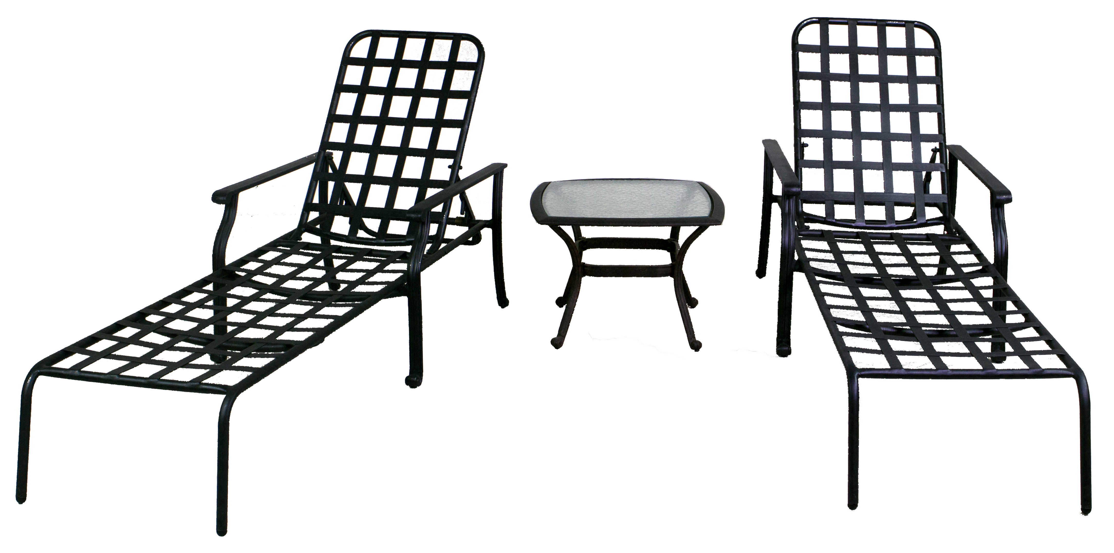 Rosemead Collection Chaise Lounge Set Amp Glass Top End