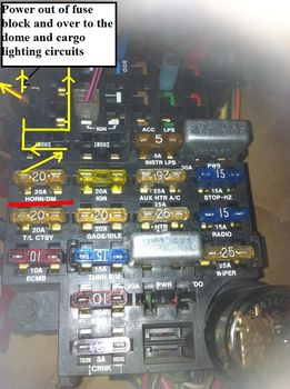 11 Chevy Silverado Fuse Box Diagram Where Is The Fuse For The Dome Light 1986 Gmc C3500 The