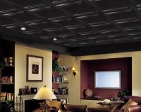 Shallow Coffer Black Easy Elegance Coffered Black 2' x 2