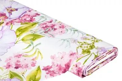 Canvas Aquarell Blumen Ecru Color Online Kaufen