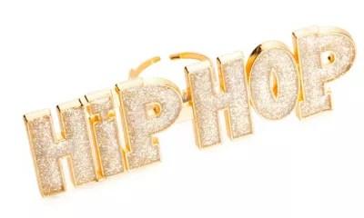 HipHop Ring gold online kaufen  buttinette Fasnachtsshop