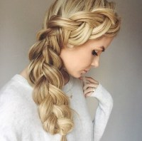 braid, cute, french braid, hair, side braid - image ...
