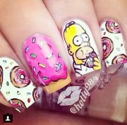 donuts homer pink simpsons