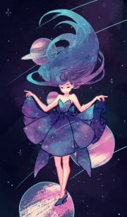 girl in galaxy - #3378877