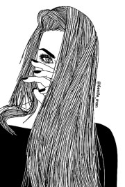art black and white drawing