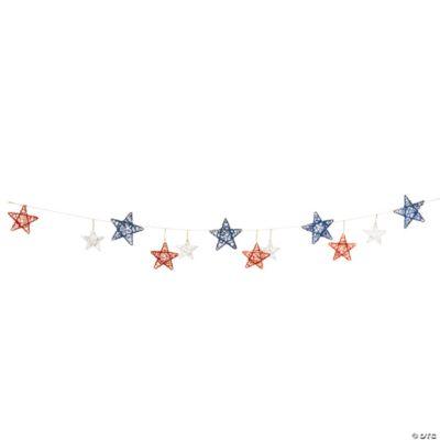 Red White Amp Blue Star Garland Oriental Trading