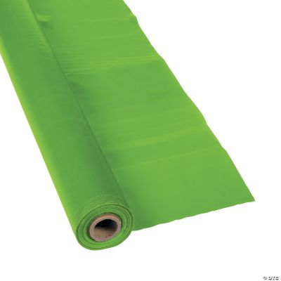 Lime Green Tablecloth Roll - Oriental Trading