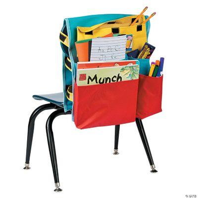 chair covers oriental trading zebra print bean bag walmart deluxe classroom organizer cover storage teacher