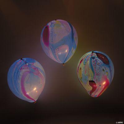 illooms LED Balloons Marble LightUp Latex Balloons