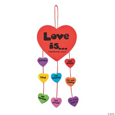 Faith Love Is Mobile Novelty Crafts Crafts For Kids