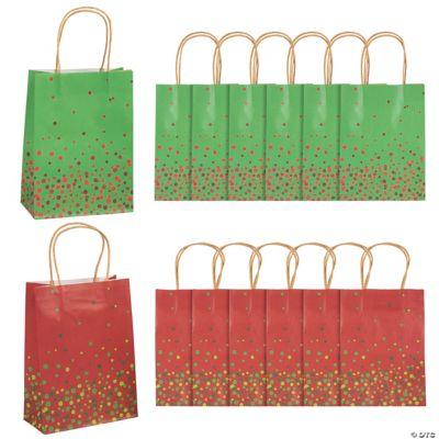 Christmas Sprinkle Kraft Gift Bags