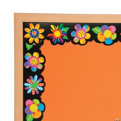 Poppin Pattern Spring Flower Bulletin Board Borders