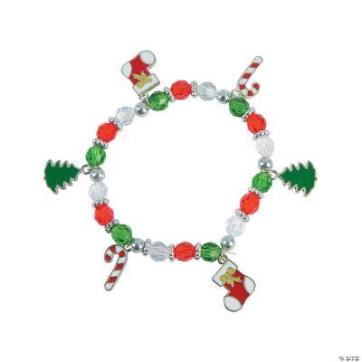 Christmas Beaded Charm Bracelet Craft Kit Oriental Trading