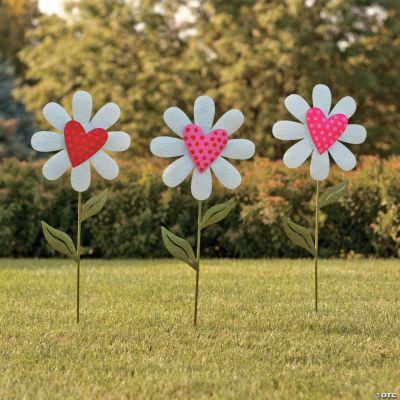 heart shaped flower yard