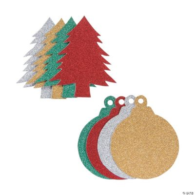 glitter christmas shapes
