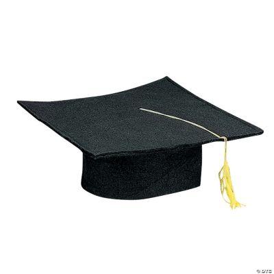 kids black felt graduation