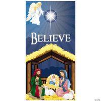 Nativity Believe Door Cover - Oriental Trading