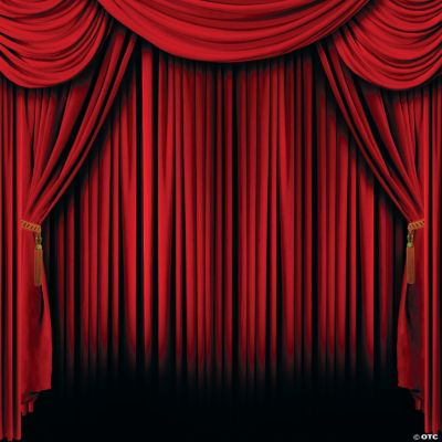 Red Curtain Backdrop  Oriental Trading