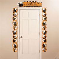 Cardboard Halloween Silhouette Door Border - Oriental ...