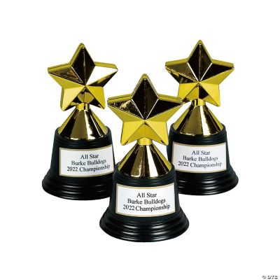 personalized star trophies oriental