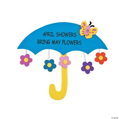 April Showers Bring May Flowers Sign Craft Kit  Oriental