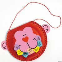 Paper Plate Valentine Monkey Card Holder Craft Kit ...