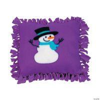Fleece Snowman Tied Pillow Craft Kit