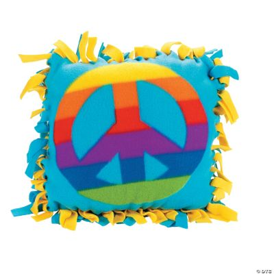 Fleece Peace Sign Tied Pillow Craft Kit  Oriental Trading