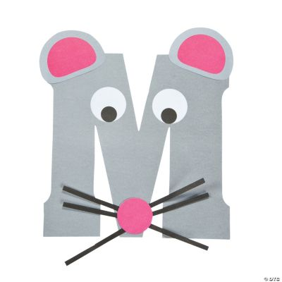 Is for mice letter m craft kit oriental trading