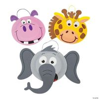 Paper Plate Zoo Animal Craft Kit - Oriental Trading