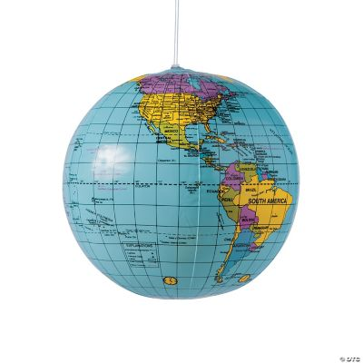 Inflatable World Globes - Oriental Trading
