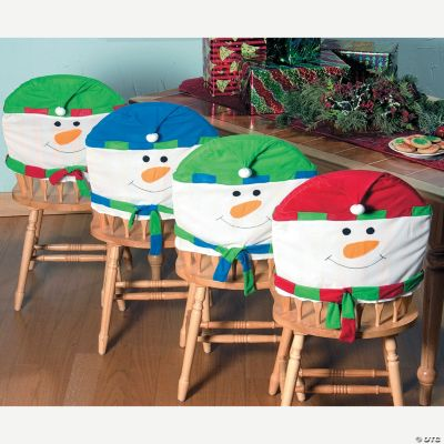 christmas chair covers for sale wooden desk chairs without wheels snowman oriental trading discontinued