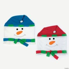 Chair Covers Oriental Trading White Desk With Snowman Discontinued