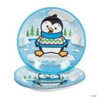 Penguin Party Dessert Plates - Oriental Trading