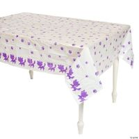Kitty Paw Print Plastic Tablecloth - Oriental Trading ...