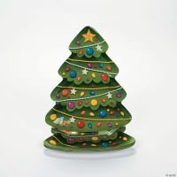 Christmas Tree-Shaped Dinner Plates - Oriental Trading ...