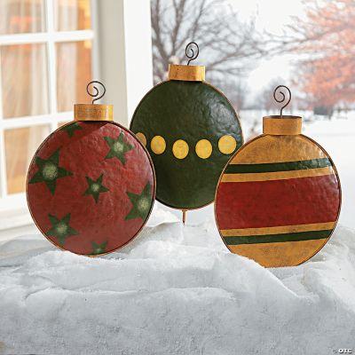Christmas Ornament Yard Stakes