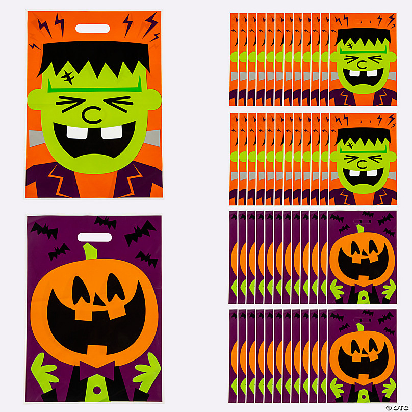 Halloween Treat Bags Trick Or Treat Bags Favor Boxes Oriental Trading Company