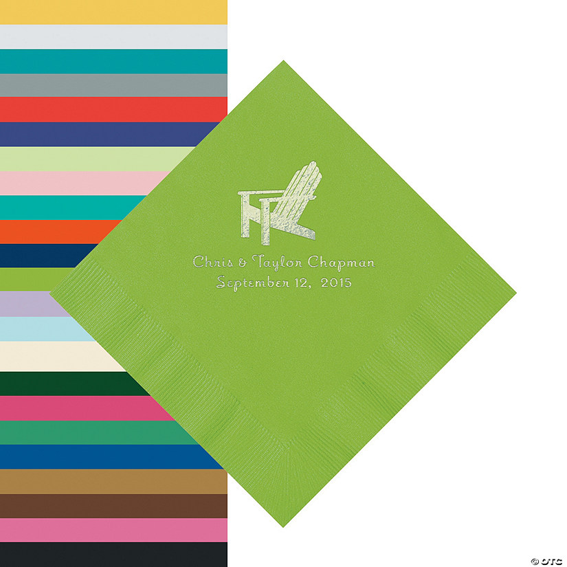 Beach Chair Personalized Napkins