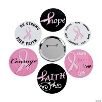 Breast Cancer Awareness Buttons
